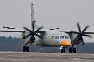 Antonov AN-132D first flight - company courtesy