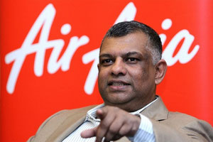 Air Asia founder and CEO Tony Fernandes  -  company courtesy