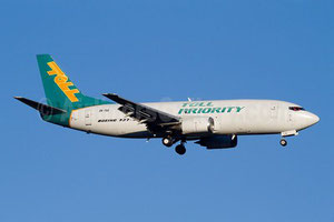 One of Airwork's Boeing 737 freighters operated on behalf of the Toll Group  -  company courtesy