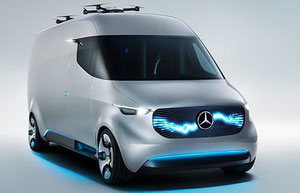 Mercedes vans with drones on the roof could become a common sight in future  -  courtesy Mercedes-Benz Vans