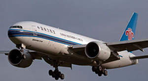 Cargo traffic is to follow. Pictured here is a China Southern operated Boeing 777F