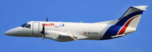 Pictured is a Swiftair operated EM-120F