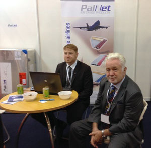PalNet CEO and Founder, Klaus Demtroeder (right) and his son Dennis who is the company's General Manager at the interairport Asia exhibition at Singapore.