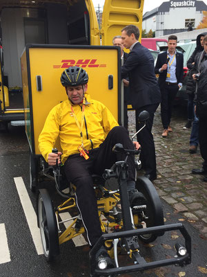 The Swedish-produced new delivery bike enables greater inner-city maneuverability at zero greenhouse gas emissions