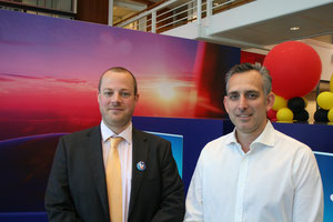 Together they stand. Alban François VP Global Cargo Brussels Airlines (L) and Bart Van Daele, Director BU Brussels Airlines Cargo at Air Logistics Group – photo: ms