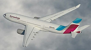 Image of Cologne-based and Sun-Express, Germany, operated A330-200 of LH subsidiary Eurowings  /  source: LH