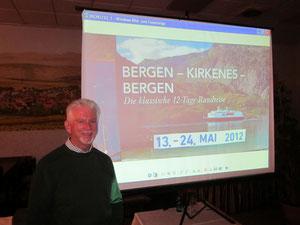 Ernst König zeigte seinen Reisebericht (Foto: P. Nissen)