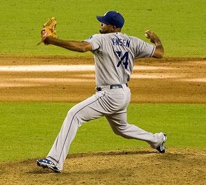 Nella foto Kenley Jansen il closer dei LA Dodgers,