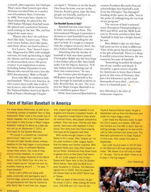 La quinta e ultima pagina dell'articolo su Ambassador