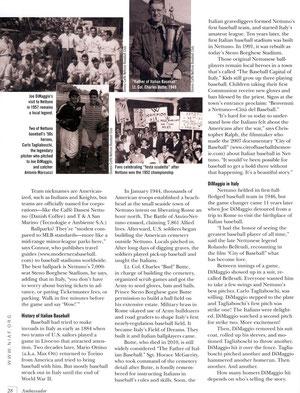 La terza pagina dell'articolo su Ambassador