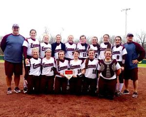 La squadra Lady Gators della Foreman High School al completo. Nadia Ballarin al centro con il numero 10