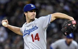Dan Haren, il pitcher dei Dodgers sta lanciando con un 2.04 ERA (foto da MLB.com)
