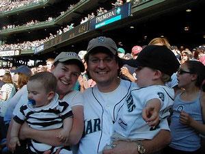 Una famiglia allo stadio