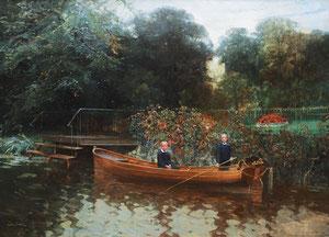 Gemälde von Ludwig Dettmann, Bassinstraße 18 -  Kinder von Eduard Steinle