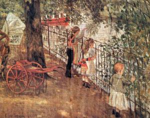 """Die Kinder Simms an der Alster"", Friedrich Schaper, 1903"