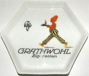 Grathwohl Zigarette Aschenbecher / Zahlteller