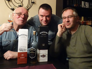 Bowmore 15 Y / Usquebaugh - Arran / Bowmore 12 Y Enginma