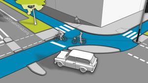 Die niederländische Kreuzung aus der Nähe © Timm Schwendy/Darmstadt fährt Rad