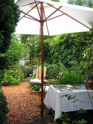 le point accueil dans Le Jardin de Dan