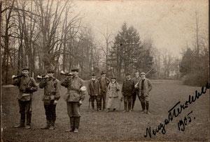 Jagd im Schloßpark Neugattersleben