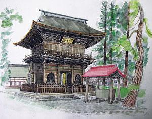 弘前市の長勝寺三門(まさよしさんの作品)