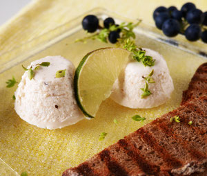 Saiblings-Limetten-Mousse