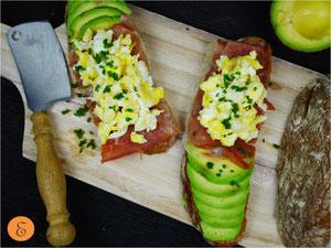 Ham & Egg-Brot / Avocado