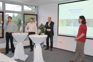 v.l.: Moderator F. Grützmacher und die Referenten H. Höper, J. Göttke-Krogmann, M. Krebs