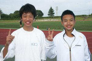 松島(左)と西川