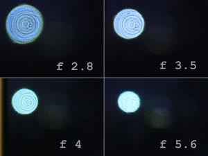 Источник света вне фокуса (100% кроп)