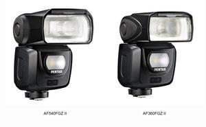 Pentax AF 540 II и AF 360 II (с сайта компании)