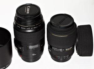 Sigma 105/2.8 рядом с Canon 100/2.8 macro USM