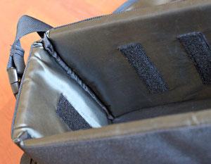 Внутренняя поверхность и липучки для перегородок