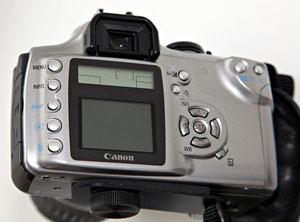Canon EOS 300D вид сзади