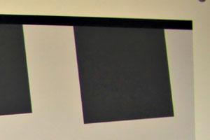 Угол тестовой таблицы - хроматические аберрации