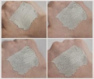 Reinigende Lehm-Maske mit Minze nach einer Woche Anwendung