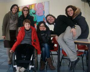 Volontari dell'UNITALSI, docenti referenti ed Elena