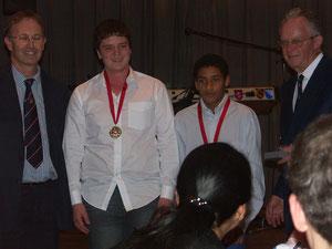 l-r: P.Henderson, Callum, Simon & Mr. Bob Barber