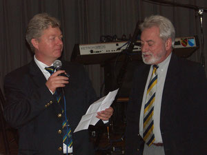 J.McKillop receives his Services to Cricket award