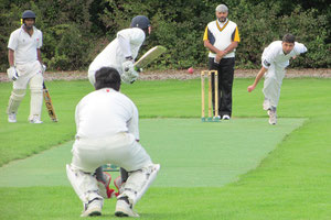 Berne opener Naveed bowling to the Olten top-order