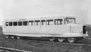 Une des premières Micheline (Michelin) dans les années 30