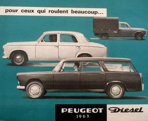 Pub Peugeot 1963