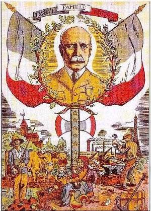 Affiche à la dévotion de Pétain