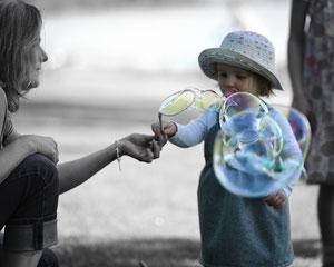 Bild: Ich mit Kind Schwarz/Weiss
