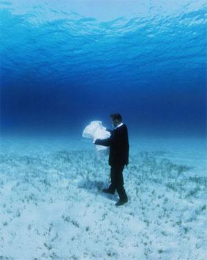 Qu'est-ce qui est le plus incroyable?  Se repérer par satellite (GPS, Google Earth...) ou par une carte au fond de l'eau ?