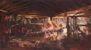 Peinture de François Bonhommé.