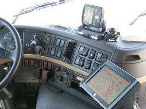Volvo Führerhaus mit Trophy-Tec Navigationsbildschirm