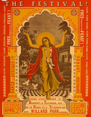original poster from the Hare Krsna festival from the 60's-70's