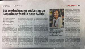 Gemma González Calvo en La Voz de Avilés