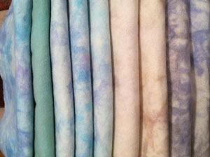 New hand-dyed wool for your next project.